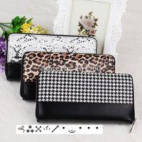 Fashion wallets imitation animal skin leather zipper wallet purse women clutch purse,animal skin design Snakeskin,leopard
