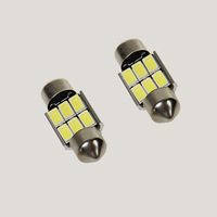 1Pcs White 31MM 6 SMD Dome Festoon LED Bulb Door Map Reading Light For Car Auto 12V