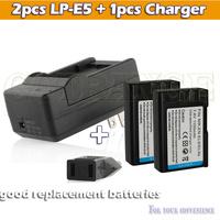 Free ship 2pcs en-el9 EN-EL9A EL9a DSLR Camera Battery with 1pcs charger For Nikon D5000 D3000 D40 D40X D60 accessories