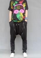 plus size fashion male slim casual trousers big drop crotch men's sweatpants dance hip hop harem pants men