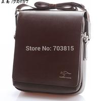 NEW Fashion Rushed Zipper Handbags Men Messenger Bags, Big Promotion Genuine Kangaroo Shoulder Bag men's leather briefcase
