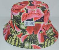 mens hip hop cotton Watermelon bucket hats print sun caps for women