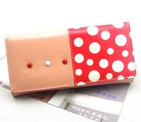 2014 Real Carteira Feminina Carteira Masculina Wholesale Ladies Purse Leather Wallet Dot Lovely Mobile Phone Package Korean Long