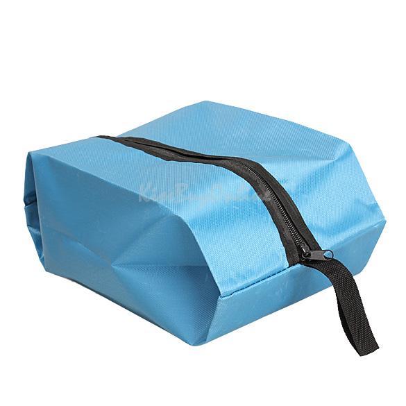 Nylon Oxford Waterproof Shoes Bag Travel Outdoor Storage Tote Dust Bag Blue K5BO(China (Mainland))