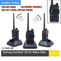 Hot Portable BAOFENG UV-5R Walkie Talkie 136-174/400-480Mhz Dual Band UHF/VHF Radio Interphone