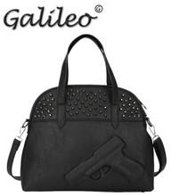 90%off sale 2014 Women messenger bags lady's handbags vlieger vandam hot gun bag 3d cartoon metal rivets punk Leather bags(China (Mainland))