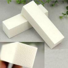 Free shipping 10Pcs White Buffing Sanding Files Block Pedicure Manicure Care Nail Art Buffer(China (Mainland))
