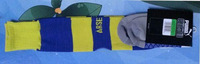 2015 Arsemal Away Yellow And Blue Adult Thailand Quality Thickened Free Size Cotton Sock Arsemal Sports Player Version Sock