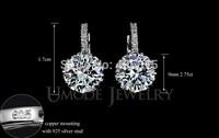 New Fashion women Ear Clip-on Chandelier Austria Crystal Dangle Earring