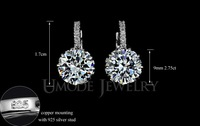 New Fashion women Ear Clip-on Chandelier Austria Crystal Dangle Earring