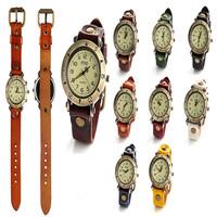 7 color original high quality women leather antique watches, quartz bracelet watch free generation send of orders
