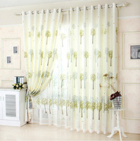 Discounted New Arrival Green  Window Curtains Blackout Curtain + Tulle150*250cm plants Curtains In Home&Kitchen Free shipping