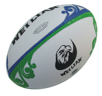 Rugby 5 rubber particles hand stitched Rugby game, feel is good, quality assurance