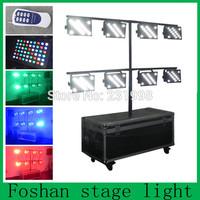 Free shipping 8pcs/lot,remote control +DMX control led par light,OEM factory par cans lamp,rgbw led par64 pack by flight case