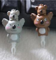 new  Animated cartoon Gray and brown koala dust plug High quality resin earphone plug cell phone accessories jewelry