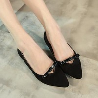 Free shipping the new age season 2014 fashion women's shoes The bow pointed flat shoes wholesale high quality