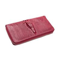 Genuine Leather Alligator Wallet Brand Cluthes 2014 Western Style Ladies Purse Crocodile Embossed Zipper Women Wallets Alligator