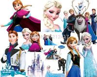Free Shipping Frozen Stickers 63*66cm Frozen Wall Sticker Frozen Elsa Anna Princess Picture Poster Custom Canvas Paint Hd Decor