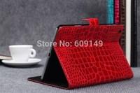 50pcs/lot Free shipping 6colours High grade Crocodile grain holster leather cover case for ipad mini 1 2 for ipad mini PU case