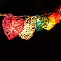 Rattan Balls String Lights/Fairy/Lamp Handmade For Home/Christmas Decor/Lighting, LED Available,romantic