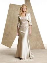 Bainha / Coluna Strapless Andar Comprimento Mãe dos vestidos de noiva com laço uma Jacket(China (Mainland))