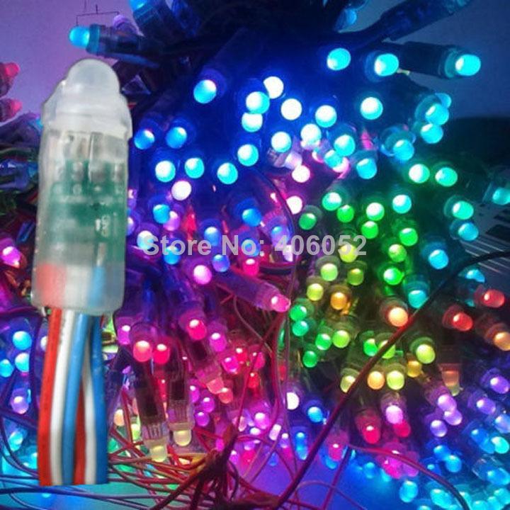 1000pcs/lot WS2801 led module, waterproof ip68 DC5V RGB pixel string(China (Mainland))