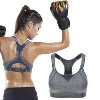 Quality Wireless Fit Non Padded Rebound Racerback Workout Sport Bra Black Gray White