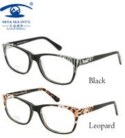 Eyewear Accessories oculos de grau femininos European Nature Leopard Color Fashion Glasses Women