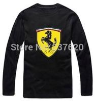 Free shipping 2014 new sale hiphop t shirt brand car logo F1 brand tee shirt 100% cotton long sleeve t-shirt 6 color