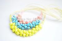 2014 Fashion Women Jewelry Accessories handmade glaze ceramic beads long necklace 162 Free Shipping