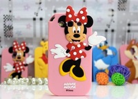 3D Winnie Bear Mickey Minnie Mouse Donald Duck Squirrel Animal Cartoon Case For Samsung Galaxy S3 I9300