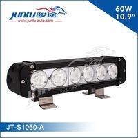 Different size ATV front bumper 12v 10w single stack led light bars