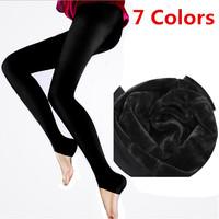 7 Colors 2014 New Autumn-Winter Women's Leggings Fashion High Elasticity and Good Quality Leggings Thick Velvet Leggings