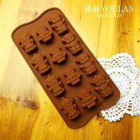 Robot Silicone Baking Molds 12 Grids Ice Lattice DIY Chocolate Mold Pudding Cake Tools Styling Ice Cube Tray  Creative Bakeware