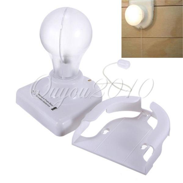 Free Shipping White Stick Up Lights Cordless Wireless Battery Operated Night Light Portable Bulb Licht Cabinet Closet Lamp(China (Mainland))