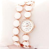 Martian man 2014 new arrival fashion female Korean fashion diamond Epoxy bracelet watch free shipping D0082