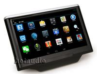 Pure Android 4.2 Car Headrest Pad HD1024*600 3G wifi + Capacitive Screen Cortex A9 Dual Core 1GHz CPU Ram Free IR Earphone