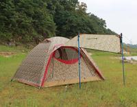 2014 new spring and summer outdoor camping camouflage double layer double-door tent waterproof windproof aluminum tent