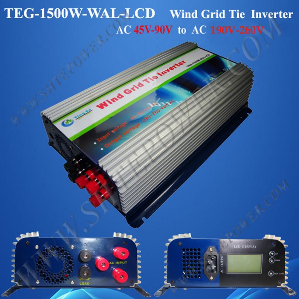 grid tie inverters 1500w wind turbine grid tie inverter 1.5kw ac to ac with lcd display inverter(China (Mainland))