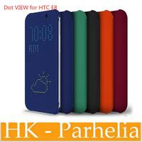 30pcs/lot  For HTC ONE e8 Dot View Case Flip Cover for HTC ONE e8 phone bag dot view case For  htc  one e8 +retail box
