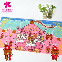 Christmas bear 100% textile cotton Cartoon Bath Towel women's absorbent soft cartoon graphic patterns big towel 75 *150cm/330G