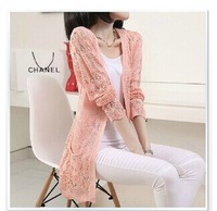 Woolen sweater Spring and autumn 2014 Women's V-neck all-match slim knitted cotton cardigan long-sleeve women sweater