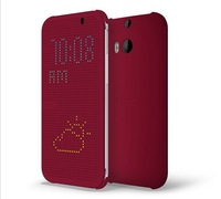 10pcs/lot For HTC ONE e8 Dot View Case Flip Cover for HTC ONE e8 phone bag dot view case For  htc  one e8 +retail box