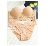 wholesale France brand push up plunge sexy bra set women underwear lingerie set ABC cup