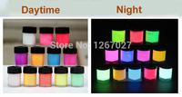 новейшие свечение в темной днем видна & УФ re-active краска 3 мл неоновый пигмент рисунок Хэллоуин краски светящиеся 1 комплект/12 цветов
