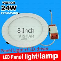 24W LED panel lights LED panel lamp 8 Inch 220V-240V Fashion high quality SMD 2835 warm white cold white free shipping