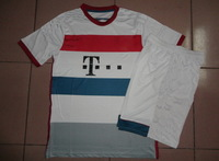 Embroidery Logo 14/15!!! Bayenfc Away Wihte Soccer Uniform,High Quality Bayenfc kits, Soccer Shirt with Short+Free Shipping