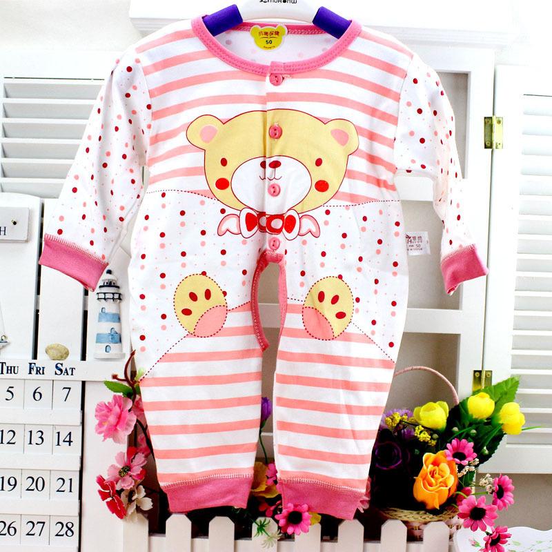 autumn cotton bear soft baby girl/boy romper newborn wear jumpsuit toddler children creeper kids clothes for 0-9m(China (Mainland))