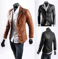 Plus-size skin suit fashion leisure leather jacket XXL, XXXL, XXXXL, 5 XL, 6 XL