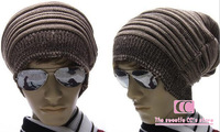 Autumn And Winter Fashion Knitted Hats For Men / Warm Casual Cotton Men Beanies Beige Black Coffee Free Size